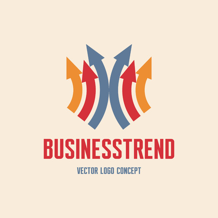 trend: Business Trend icon Sign  Illustration