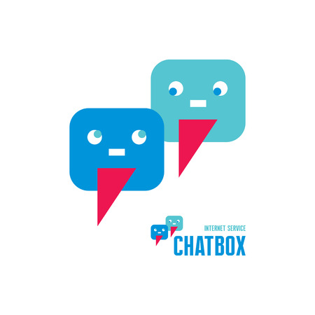 chatbox: Chatbox - abstract creative icon sign.