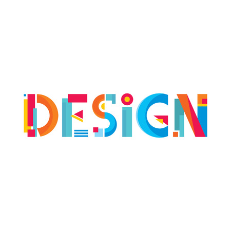 designer colors: Design Word Abstract Sign