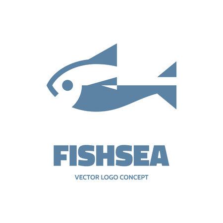 peces: Fishsea - vector concepto.
