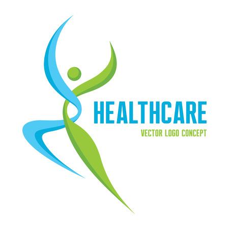 human character: Healthcare - concetto vettoriale. Uomo astratto illustrazione. Carattere umano. Vettoriali