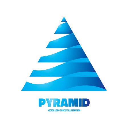 pyramid: Pyramid - vector icon concept illustration. Abstract triangle icon. Vector icon template. Design element.