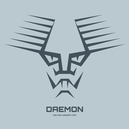 daemon: Daemon - vector illustration concept for t-shirt, cover and other creative projects. Vector icon template. Design element. Illustration
