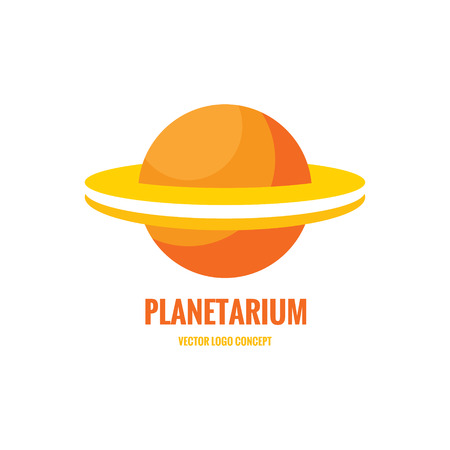 globus: Planetarium - vector icon concept. Abstract planet illustration. Stylized Saturn abstract illustration. Vector icon template.