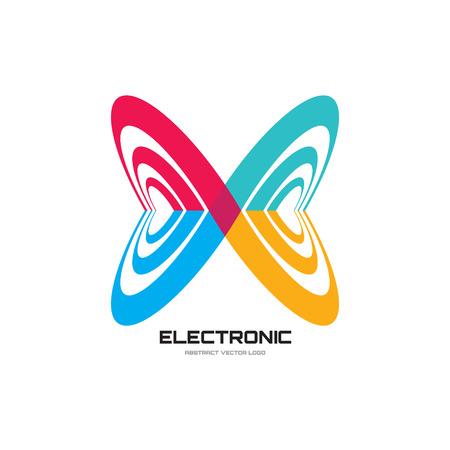 Resumen ilustración de icono de vector. Icono de la mariposa abstracta. Icono de Infinity. Vector icono de plantilla. Elemento de diseño.