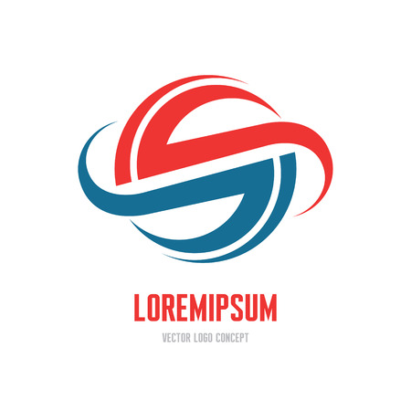 globus: Lorem ipsum - abstract vector icon concept illustration. Abstract planet vector icon. Vector icon template. Design element.
