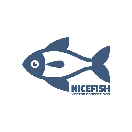 pictogramm: Nicefish - vector icon concept. Fish vector illustration. Vector icon template. Design element.