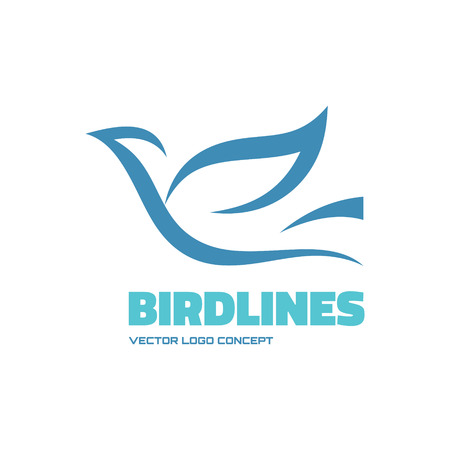 Birdlines - vector icon concept illustration. Bird logo. Dove icon. Abstract lines icon. Vector icon icontemplate. Design element.