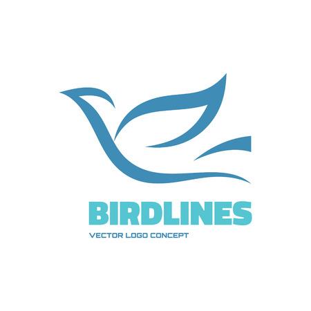 Birdlines - vector icon concept illustration. Bird logo. Dove icon. Abstract lines icon. Vector icon icontemplate. Design element.