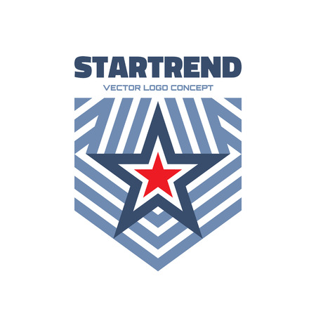Startrend - vector logo concept illustration. Star and stripes vector logo. Star abstract logo. Vector logo template. Design element.