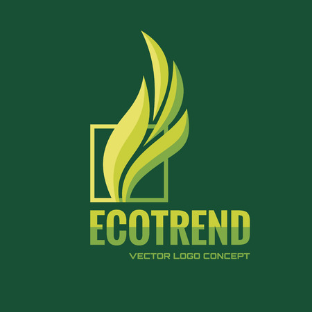 Ecotrend - vector icon concept illustration. Leafs icon. Abstract sign. Vector icontemplate. Design element.