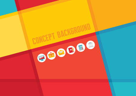constructive: Abstract background with vector icons. Abstract vector pattern. Illustration