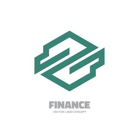 logo vector: Finance vector logo concept illustration. Business logo template. Industrial vector logo. Abstract vector logo. Design element. Illustration