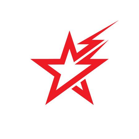 star: Sterne und Beleuchtung Vektor-Konzept Illustration. Sternzeichen. Illustration