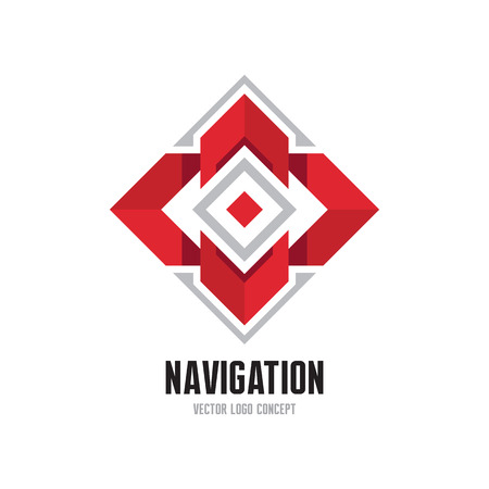 compass vector: Navigation abstract vector logo concept illustration. Abstract arrows logo. Vector logo template. Design element. Illustration
