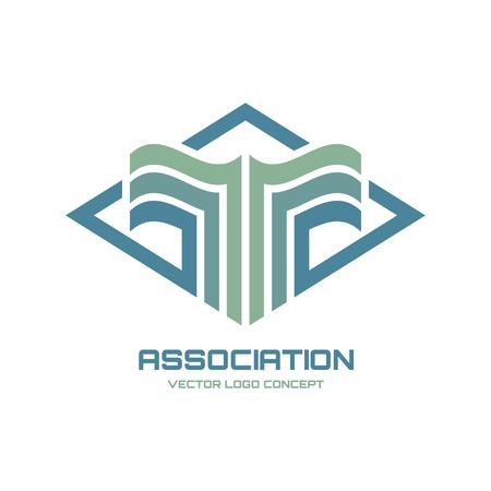 blue logo: Association vector logo concept illustration for business company. Vector logo template. Design element. Illustration
