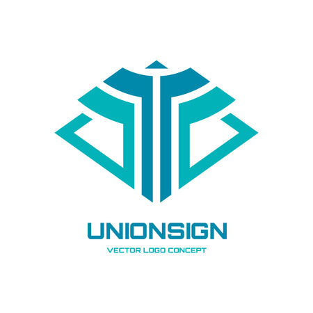 company logo: Union sign vector logo concept illustration for business company. Vector logo template. Design element.