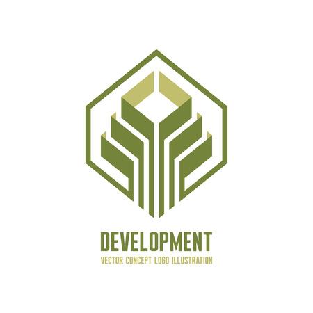 Development vector logo concept illustration for business company. Vector logo template. Design element. Ilustração