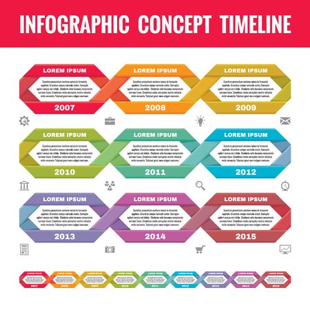 cronologia: Concepto de negocio Infografía en el estilo de diseño plano - vector plantilla calendario para la presentación, folletos, web y otros proyectos de diseño creativo. Los elementos de diseño.