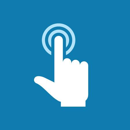 dotykový displej: Dotkněte se ikony prstem obrazovky. Prst na dotykový displej. Lidská ruka se dotknout displeje povrchu. Designovým prvkem.