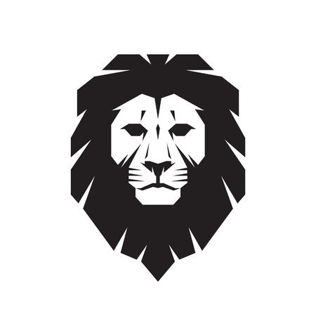 Lion head - vector sign concept illustration. Lion head logo. Wild lion head graphic illustration. Design element.