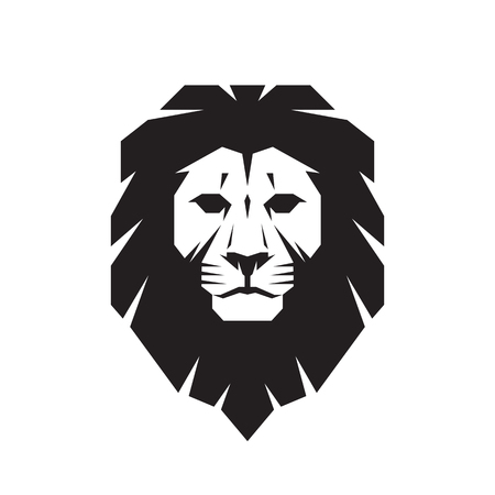 leones: Cabeza de león - vector signo concepto de ilustración. Logotipo de la cabeza del león. Cabeza de león salvaje ilustración gráfica. Elemento de diseño. Vectores