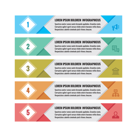 abound: Infographic business concept - colored horizontal vector banners. Infographic template. Infographics design elements.