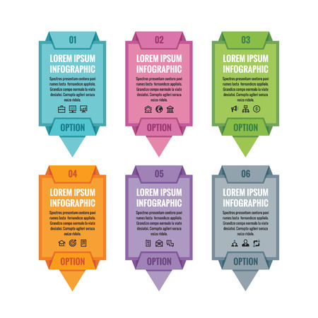 abound: Infographic business concept - colored vertical vector banners. Infographic template. Vector icons set. Design elements. Illustration