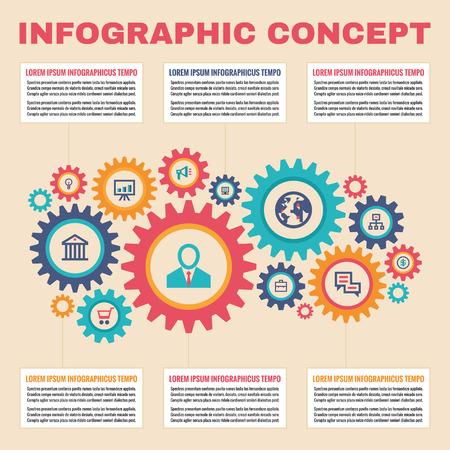fond de texte: Vecteur, carte, infographie, entreprise Illustration