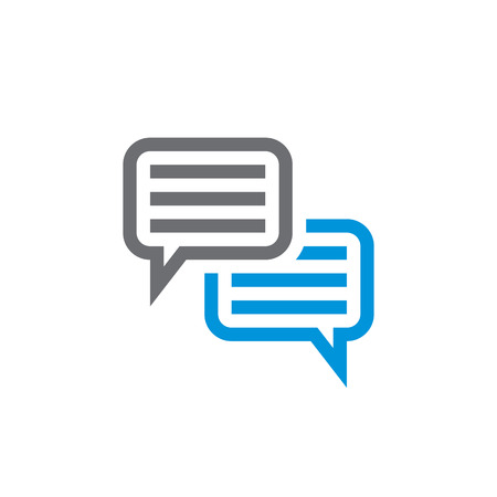 think: Speech bubbles vector icon sign. Dialogue vector icon. dialog vector icon sign. Chat vector icons sign. Think vector icon sign. Discussion vector icon sign. Design element. Illustration