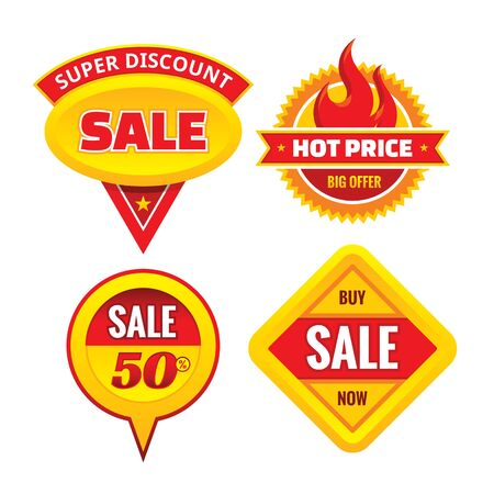 ollection: Sale - creative vector badges set. Special discount vector badges collection. Super offer concept stickers. Design elements.