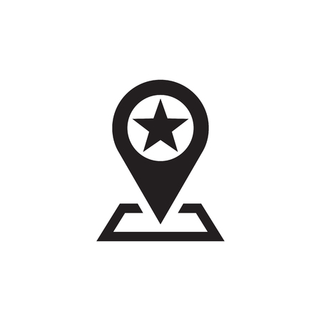 Location vector icon sign. Marker vector icon sign. Map with pointer vector icon sign. Design element.