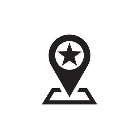 travel location: Location vector icon sign. Marker vector icon sign. Map with pointer vector icon sign. Design element.