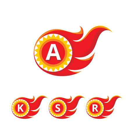 fire letter: A letter vector  sign.