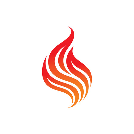 icon red: Fire - vector  concept illustration.