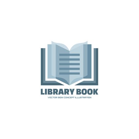 literatures: Library book - vector .