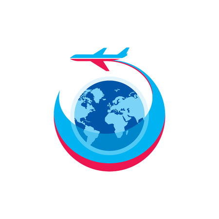 aeroplanes: Airplane - vector  sign concept illustration.