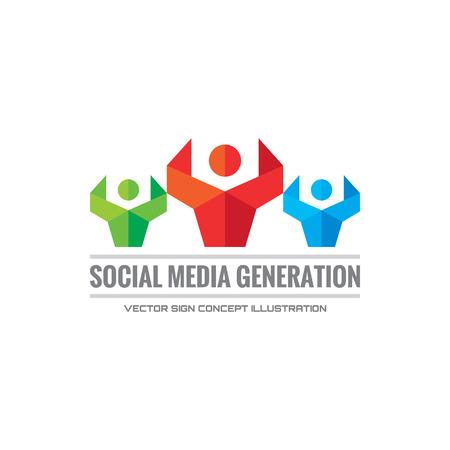 generation: Social media generation - vector  Illustration