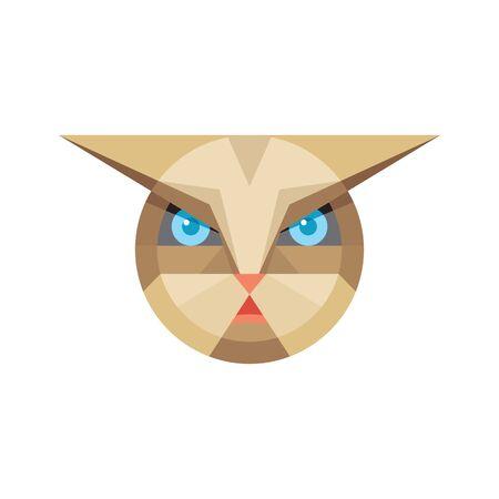feline: Cat head - vector sign illustration. Cat animal symbol. Cat head vector concept illustration. Feline illustration. Design element.