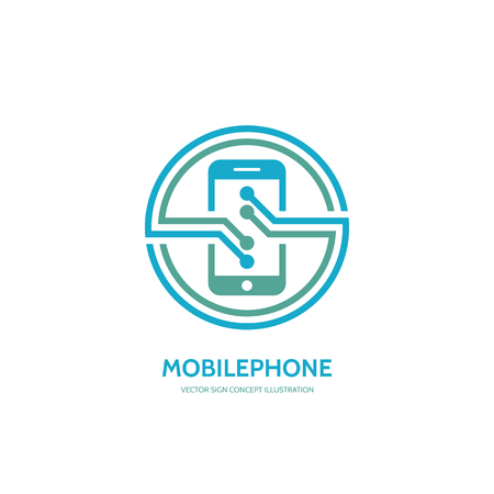 smarthone: Mobile phone vector concept illustration. Smarthone vector creative illustration. Mobile technology. Mobile phone design. Vector template. Design element. Illustration