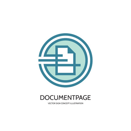 document: Document page - vector concept illustration. Document icon sign. Page icon sign. Business  sign. Electronic business document sign. Vector template. Design element.