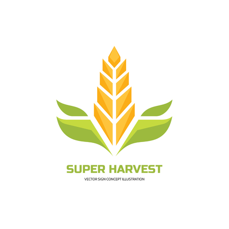 agriculture icon: Super harvest Illustration
