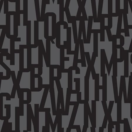 fondo de la fuente - modelo inconsútil del vector. Tipografía vector de fondo sin fisuras. Letras concepto de patrón transparente. Cartas del fondo colorido de fondo sin fisuras. Fondo geométrico abstracto.