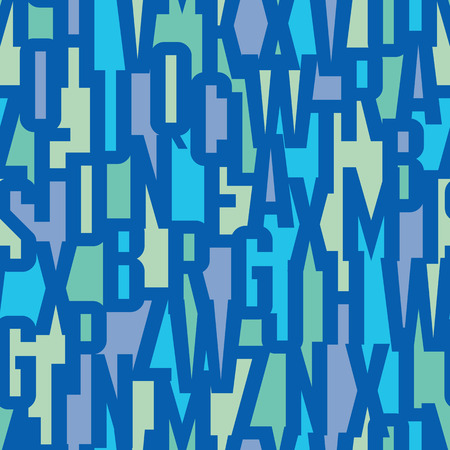 Font background - seamless vector pattern. Typography vector seamless background. Lettering concept seamless pattern. Letters background colorful seamless background. Abstract geometric background.