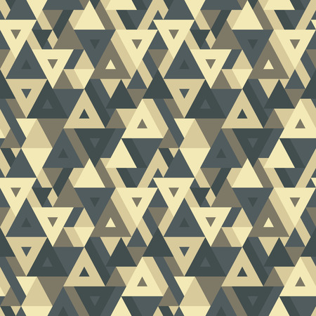 Abstract geometric background - seamless vector pattern for presentation, booklet, website and other design project. Seamless vector background in vintage colors. Triangles background. Ilustração