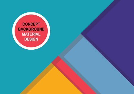 material: Geometric abstract background in material design style. Abstract vector background in trend style. Geometric pattern design. Material design vector background. Geometric concept background. Illustration