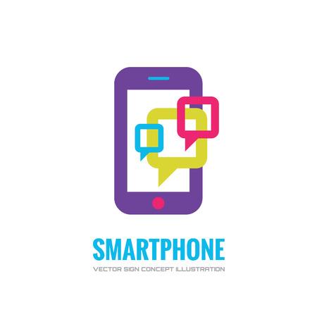 Smatphone vector logo concept illustratie. Mobiele telefoon vector logo creatieve illustratie. Mobiele technologie logo. Cellpnone logo. Mobiele telefoon logo design. Vector logo template. Design element.
