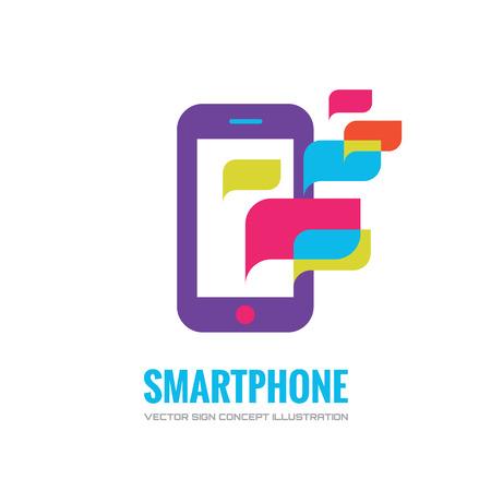 Smatphone vector logo concept illustration. Mobile phone vector logo creative illustration. Mobile technology logo. Cellpnone logo. Mobile phone logo design. Vector logo template. Design element.