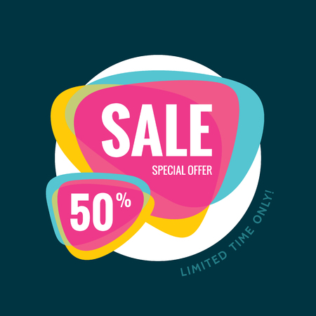 the offer: Sale abstract  - special offer 50 - limited time only.  Sale abstract background. Super big sale design layout. Sale for website. Sale template. Illustration
