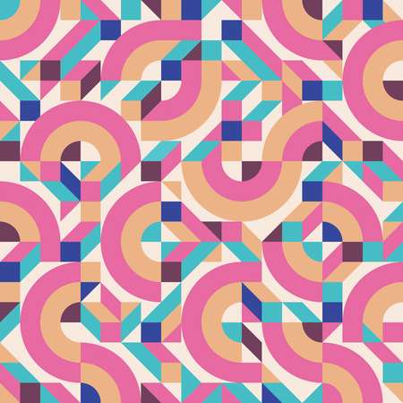 fabric pattern: Abstract background seamless pattern in fashion retro style of Memphis italian design group 80s. Abstract geometric seamless pattern for fabric design, paper print and website backdrop.
